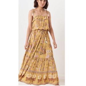 SPELL Wild Bloom Strappy Dress (Mustard)